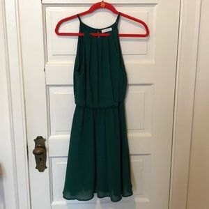 Lish, forest green cocktail dress